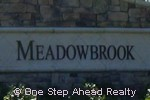 sign for Meadowbrook