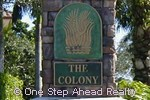 sign for The Colony