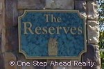 sign for The Reserves
